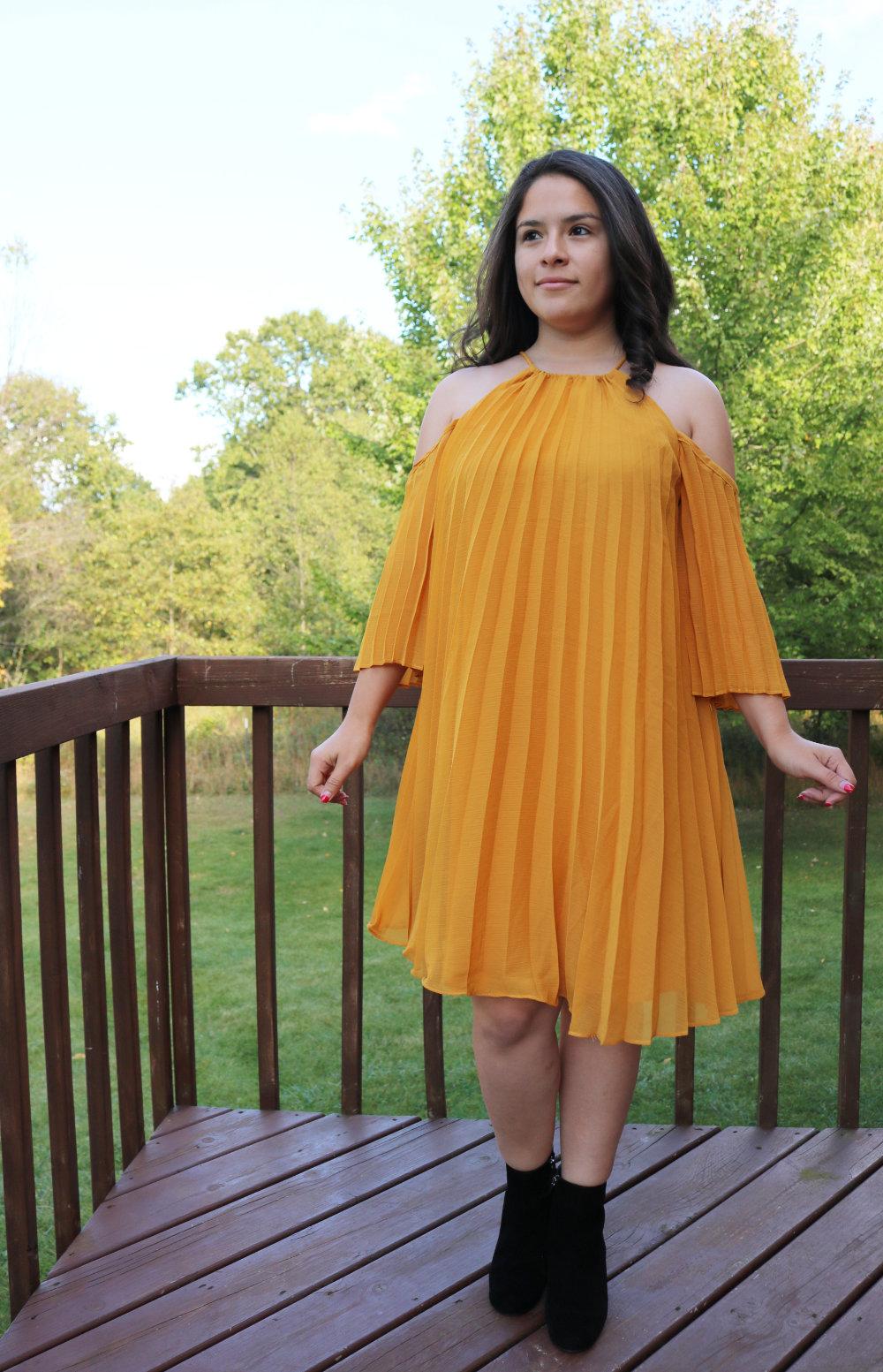 BB Dakota Gretal Cold Shoulder Pleated Dress from Trunk Club
