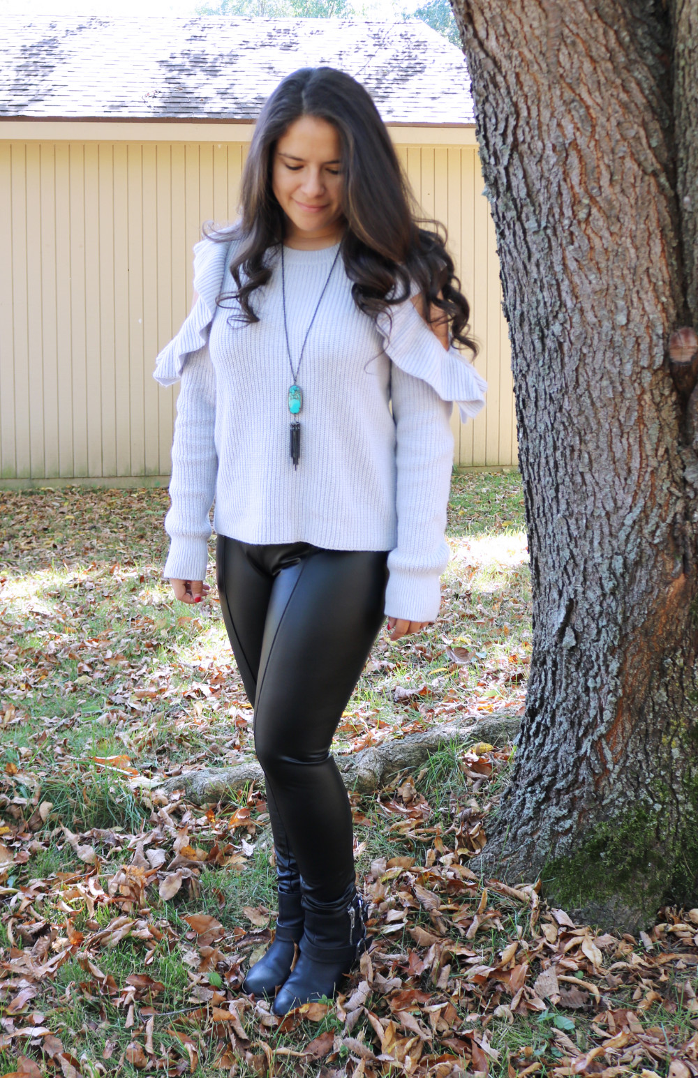 Trunk Club Review: BP Ruffle Cold Shoulder Sweater