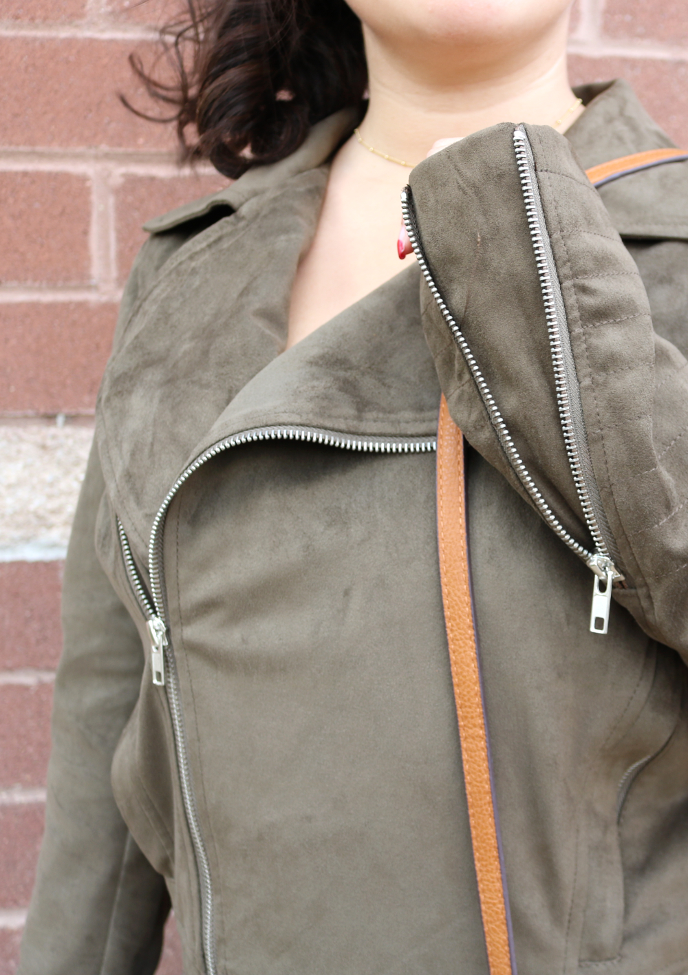Faux suede moto jacket from Stitch Fix