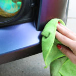 Lime green microfiber cloth