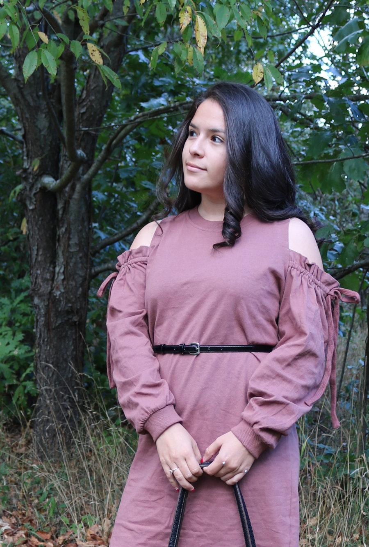 Lush Cold Shoulder Ruffle Sweaterdress