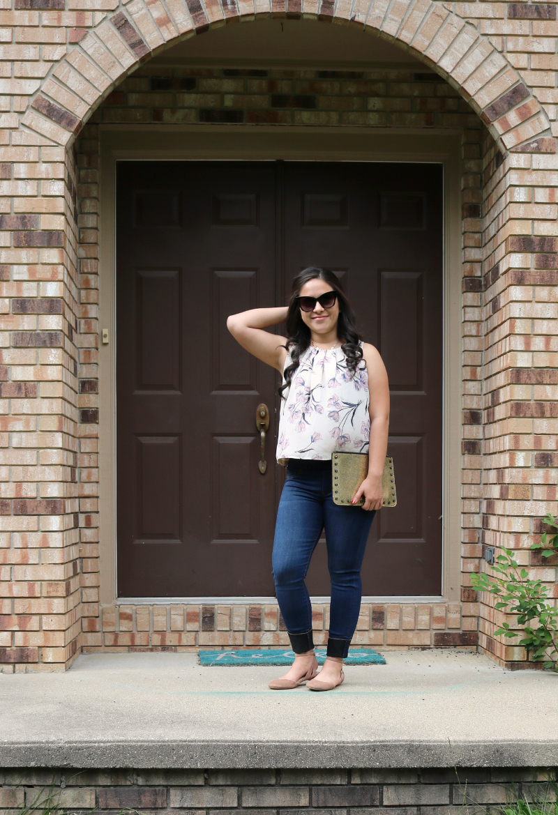 Papermoon blouse and Liverpool skinny jeans from Stitch Fix