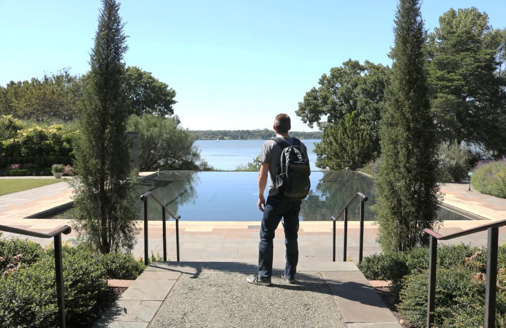 Dallas Arboretum garden pool