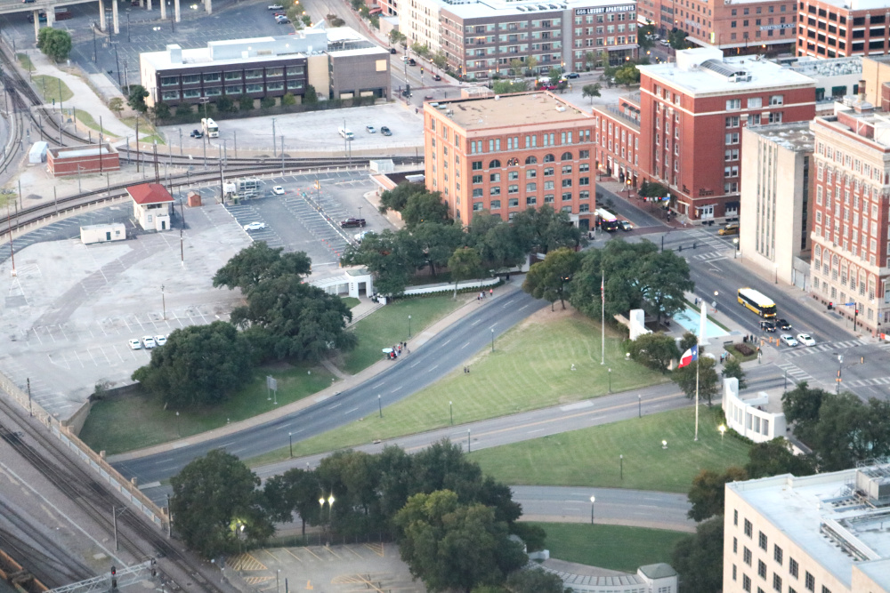 Dealey Plaza: Site of the JFK assassination in the Historic District of Dallas, Texas