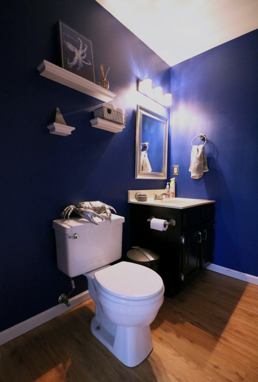 Updated glam half bath