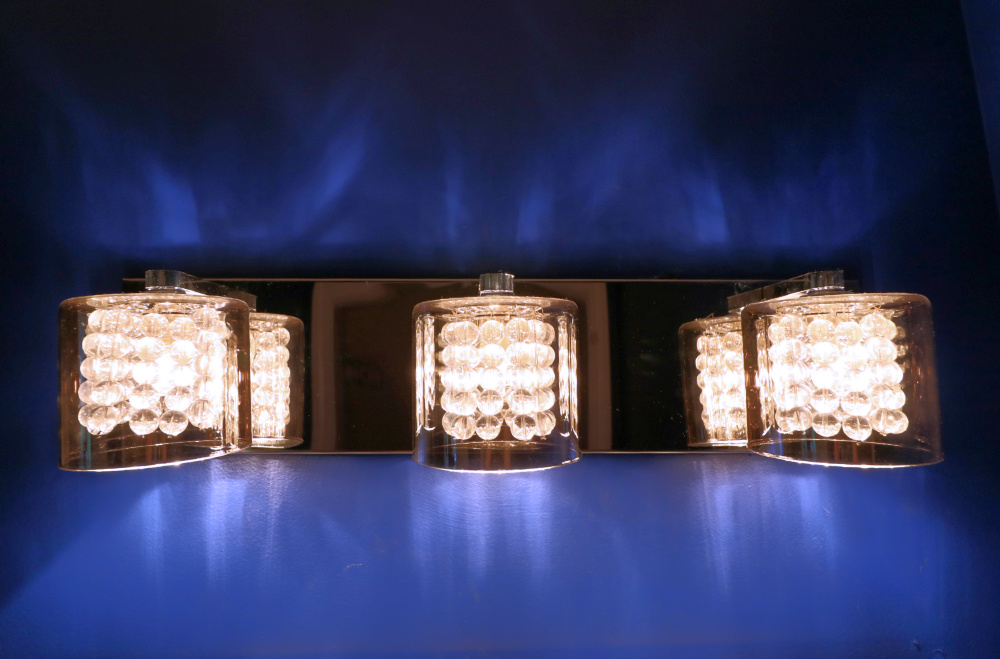 Glam bathroom light fixture