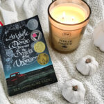 Aristotle and Dante Discover the Secrets of the Universe book and DW Home Vanilla Pumpkin candle