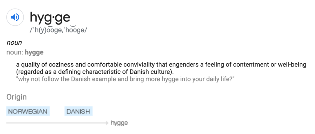 Definition of hygge