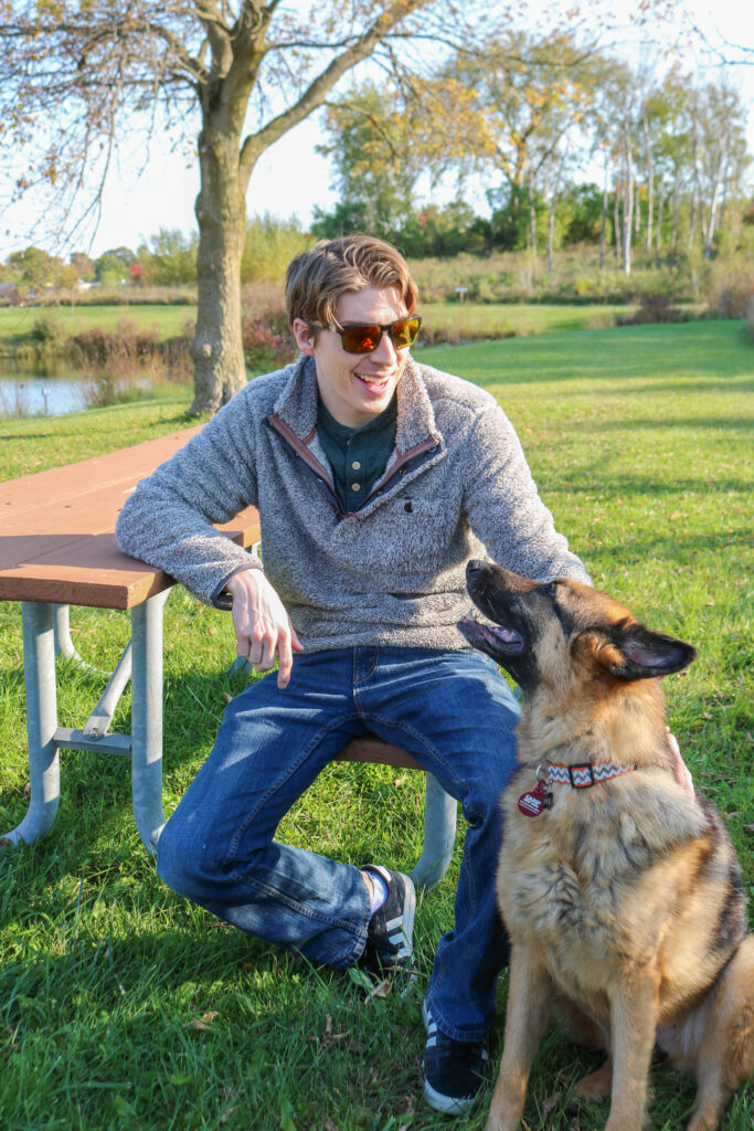 True Grit shaggy pullover and GSD