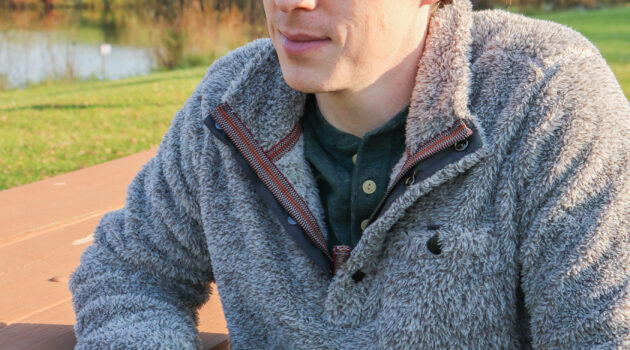 True Grit shaggy pullover and Oakley sunglasses